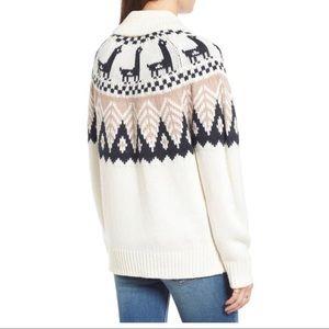 BP cardigan with llama pattern.